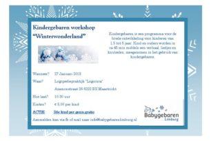 Kindergebaren workshop Winterwonderland